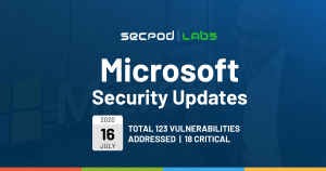 Patch Tuesday: Microsoft Security Bulletin Summary for July 2020