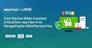 Read more about the article Zoho Patches Critical Zero-day Flaw in its ADSelfService plus Exploited in The Wild