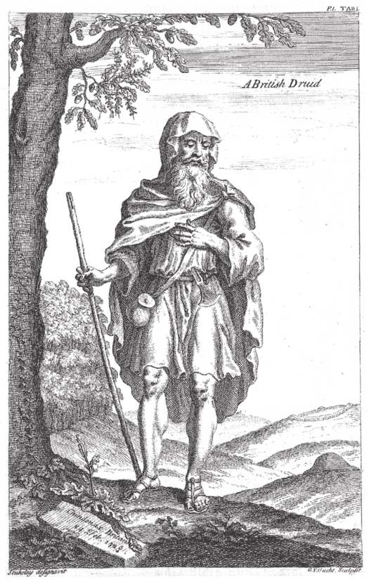 An early representation of a Celtic druid by the 18th century English antiquarian William Stukeley