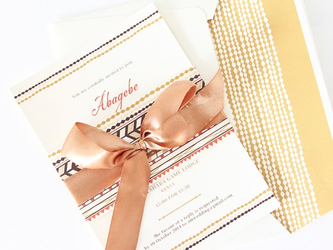 Traditional African Invitations