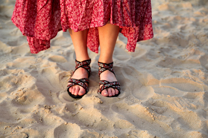 sandals close up