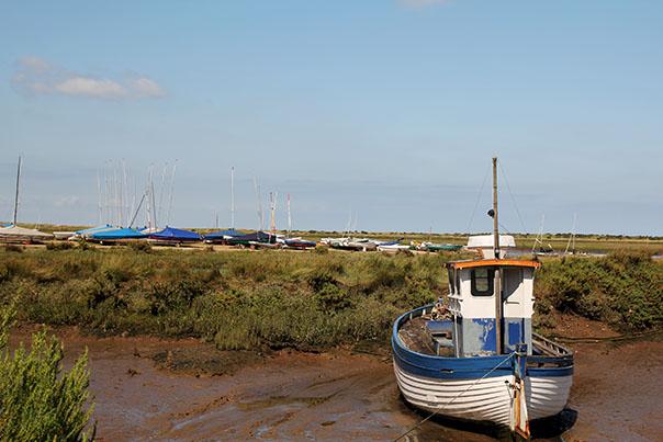 burnham deepdale marshes boat