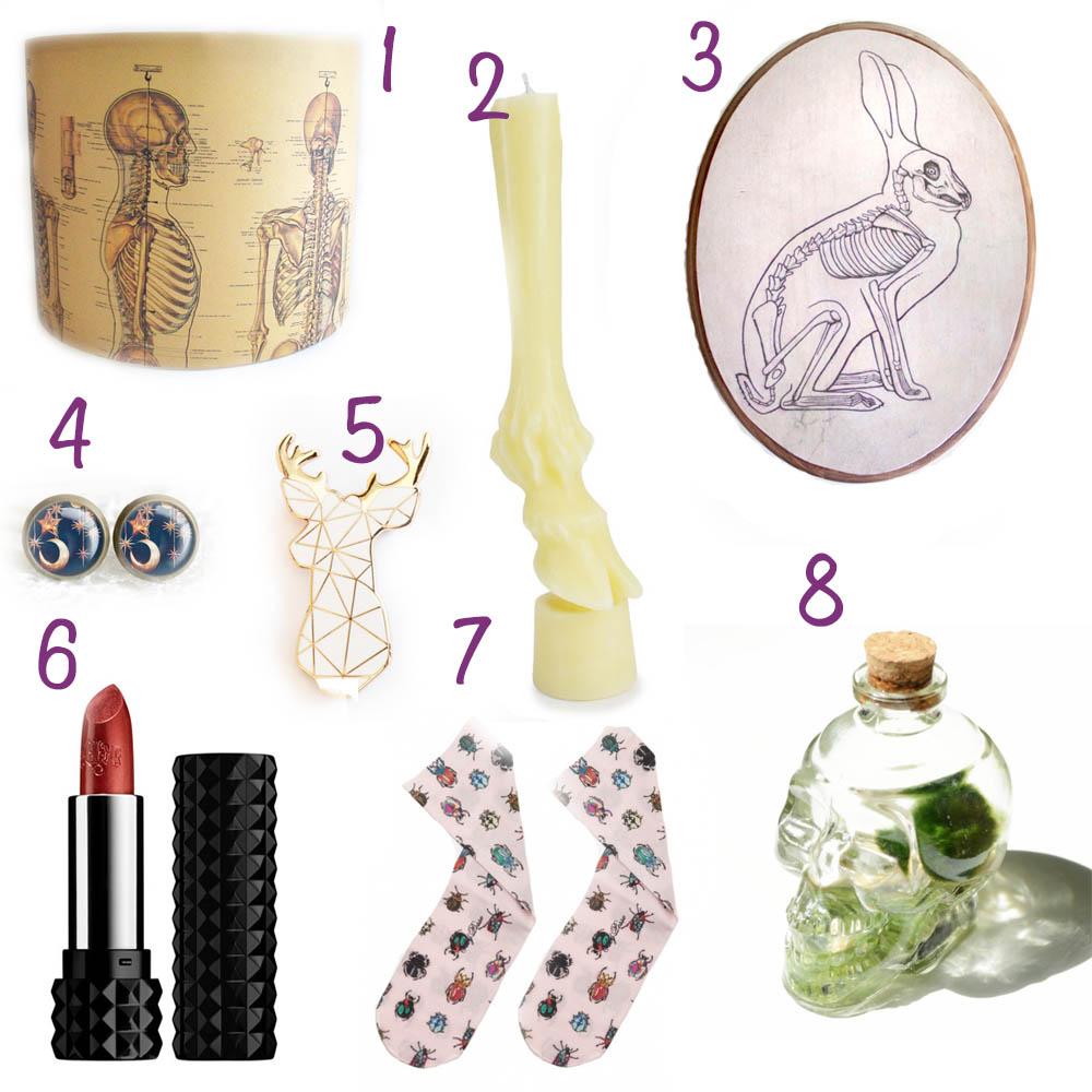 mood board for christmas gift ideas for strange girls