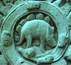Stegosaurul de pe templul Angkor Wat