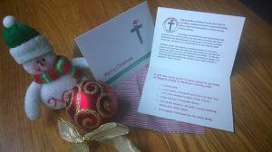 christmas donation cards