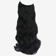 Synthetic Hair Extensions Natural Black 1b