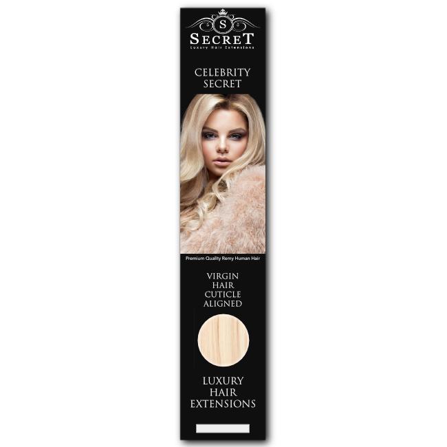 Celebrity Secret Stick Tip Hair Extensions Bleach Blonde 613