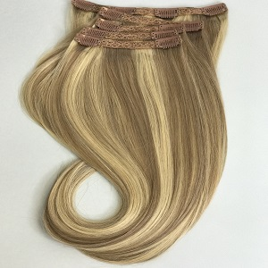 clip in hair extensions mixed blonde 10-18-613