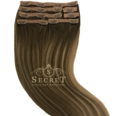 caramelised clip in hair extensions
