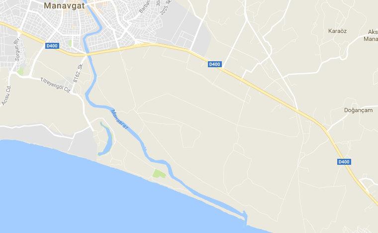Карта реки Манавгат