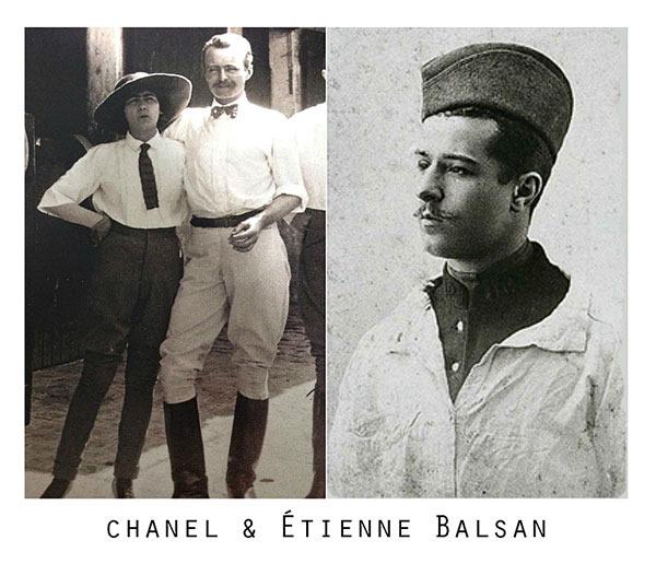 Коко Шанель в брюках  и Этьен Бальсан