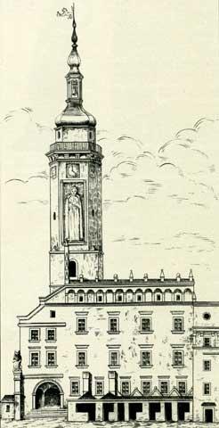 Львовская ратуша, рисунок 18 ст