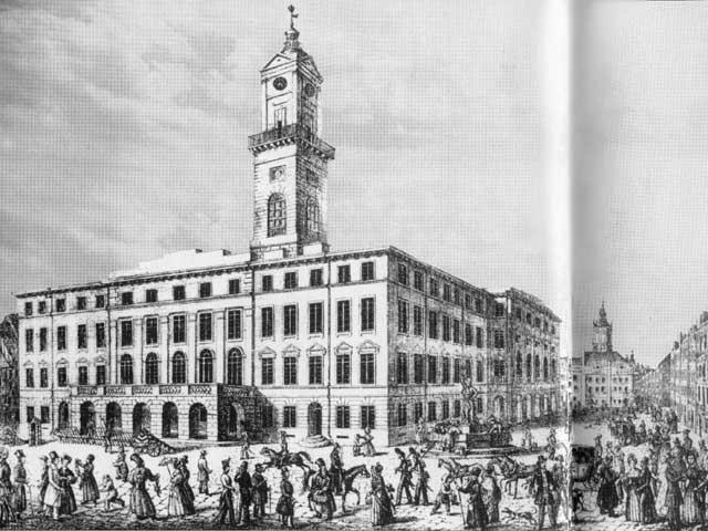 Новая ратуша, построенная в 1830-1835 году в стиле венского классицизма