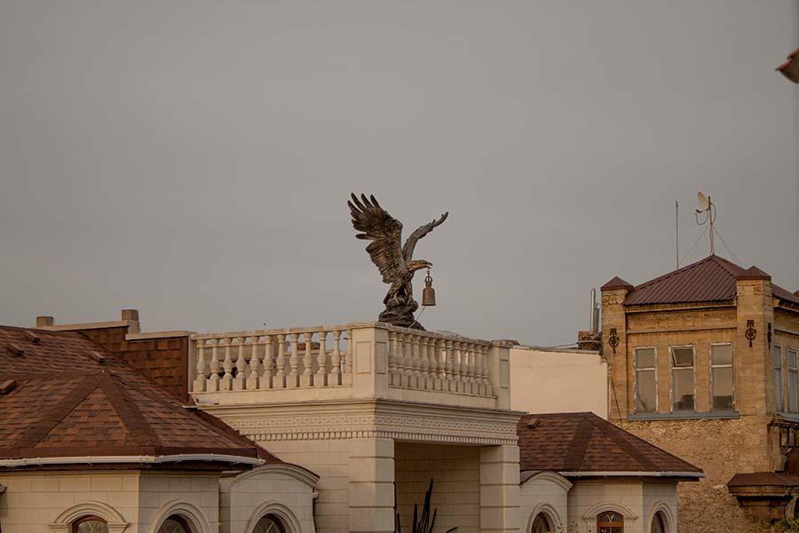 Орел с рындой