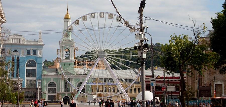 Колесо обозрения на Контрактовой площади