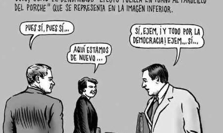 Políticos girando alrededor de una partícula de poder, por Miguel Brieva