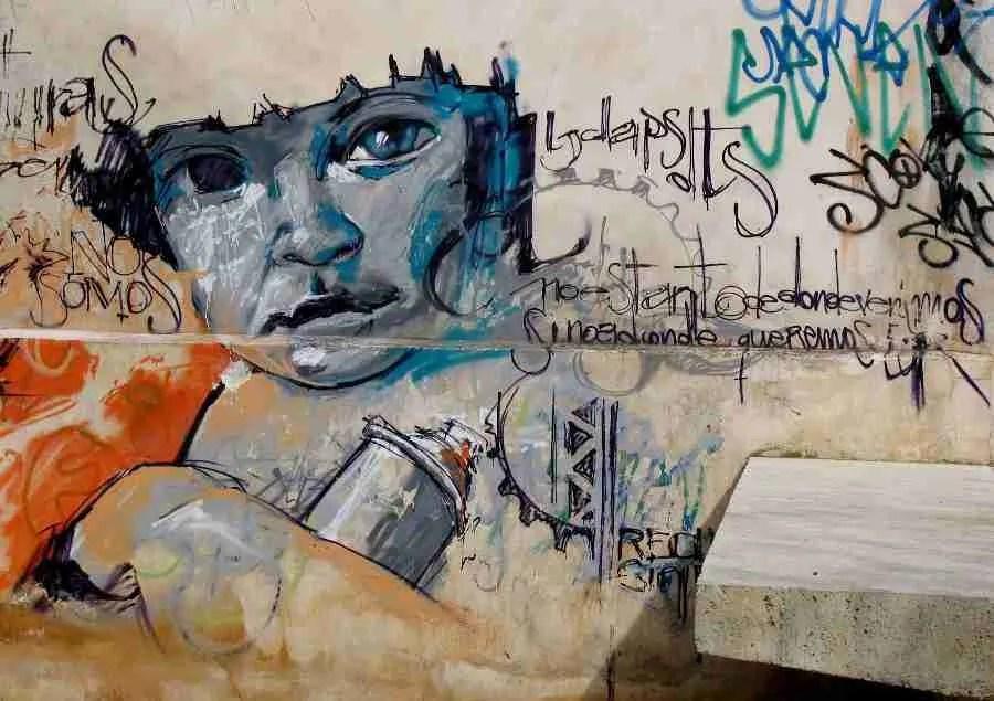 No es tanto de donde venimos sino donde queremos ir. Graffiti de El Niño de las Pinturas