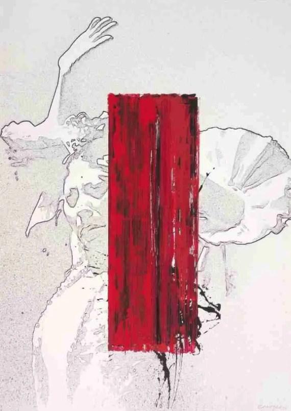 Cartel de la Bienal 2014 por Rafael Canogar