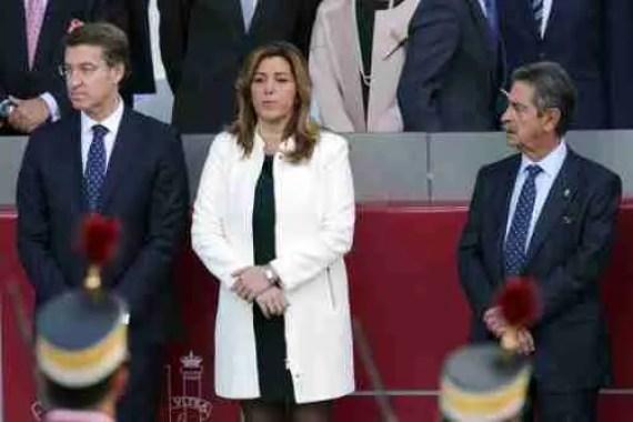 Susana Díaz entre Nuñez Feijoo y Miguel Ángel Revilla