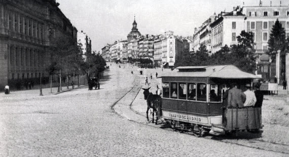 Tranvía en Madrid en 1879