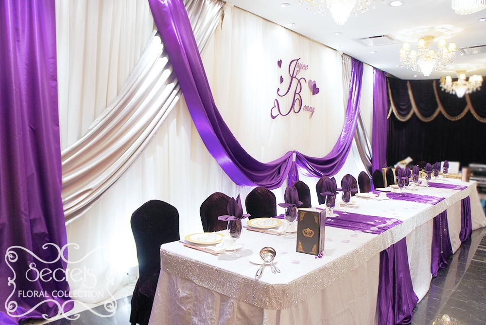 Eggplant And Lavender Wedding Cakes