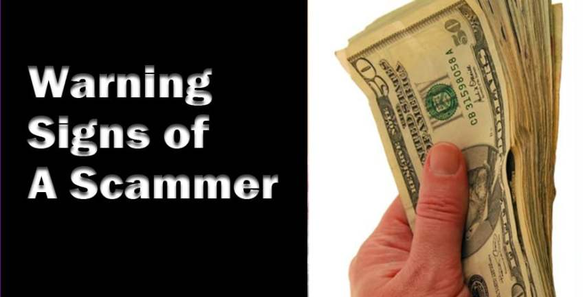 Warning Signs Of A Scammer