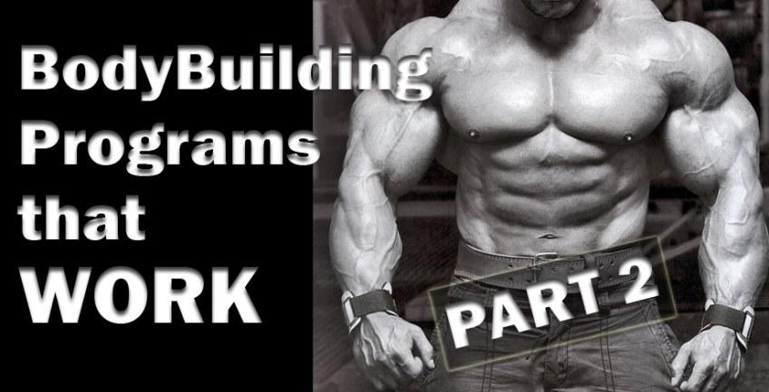 BodyBuilding Programs that WORK Part 2