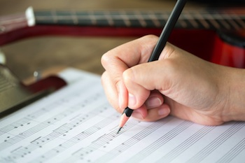Music-songwriting student