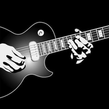 black & white guitar