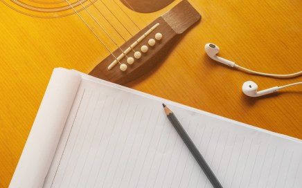 Guitar and music paper - Songwriting