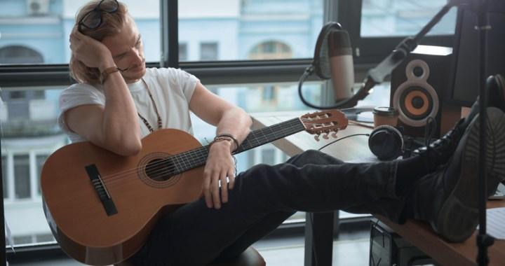 Pensive songwriter