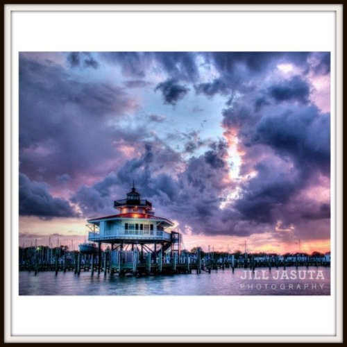 Storm Clouds Over Lighthouse Photo Print