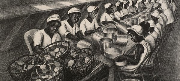 Eastern Shore Painting: Maryland Crabpickers by Ruth Starr Rose