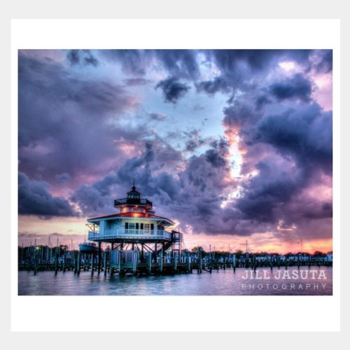 Storm Clouds Over the LIghthouse Greeting Card Image