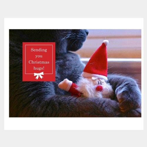 Santa Hug Holiday Card