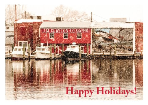 J.M. Clayton's Happy Holidays Greeting Card from Secrets of the Eastern Shore