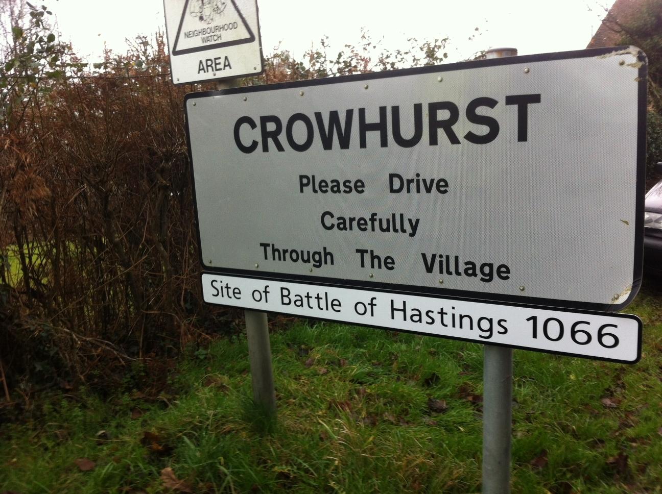 Crowhurst sign