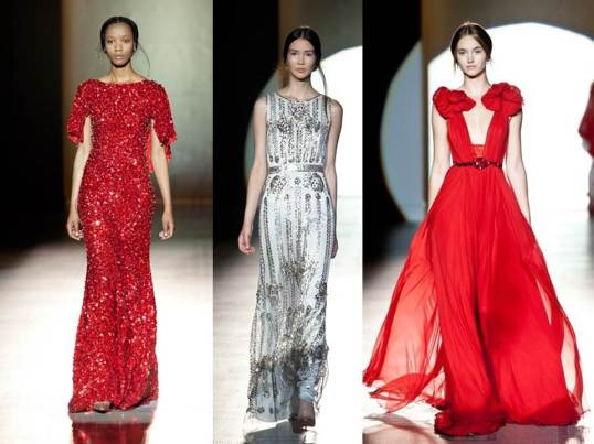 Selection from Jenny Packham's show at the V&A (images:Vogue)