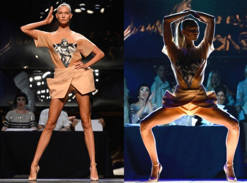 Karlie Kloss does Vogue for the Jean Paul Gaultier Show