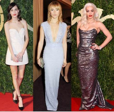 Glamour from The British Fashion Awards 2013