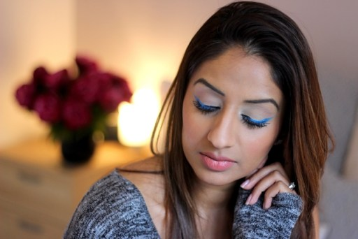 Party Look ♥ Flash of Blue Eyeliner