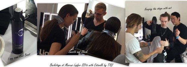 Backstage at the Marcus Lupfer Show with Catwalk by TIGI