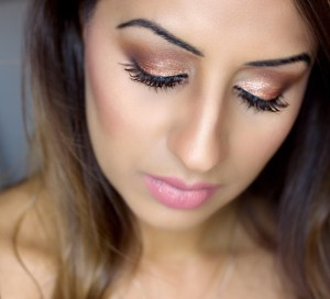 My Rose Gold Glitter Makeup Tutorial