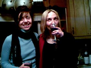 Paz, Jarboe, enjoying the wine Peppermint Paddock