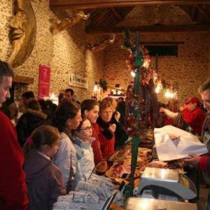 Marché de Noël dans la petite ferme.