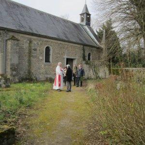 Rameaux: La sortie de la messe