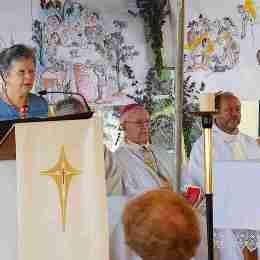 Bruno Pouzoullic; Mgr Herbulot, Père Chistian, Mgr Alain Bobière, Père Pascal Daveau