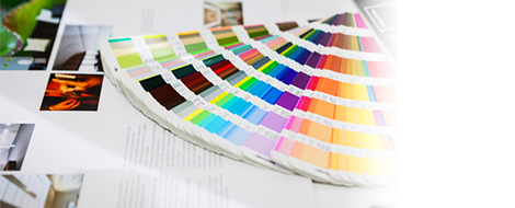 印刷物をデザインする。デザイン会社