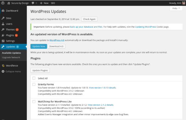 Secure by Design » Blog Archive WordPress 4.0 - Have you ...