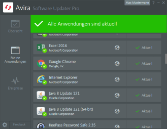 Avira_Software Updater Pro_Aktuelle Software II
